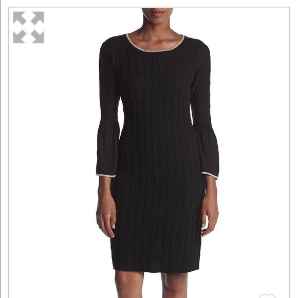 5dbc8627dd Calvin Klein Bell Sleeve Sweater Dress